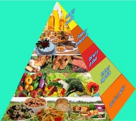 La pirámide de los alimentos fue por muchos años la norma de la alimentación. Actualmente ha sido sustituida por un gráfico en forma de plato, pero su efecto es el mismo