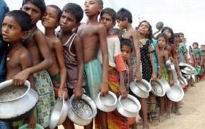 Mil millones de personas que viven en países en guerra permanente, en el Africa subsahara y en algunas regiones de Asia o América Latina, pasan hambre todos los días. En esas poblaciones no existe la obesidad ni es una preocupación prioritaria.